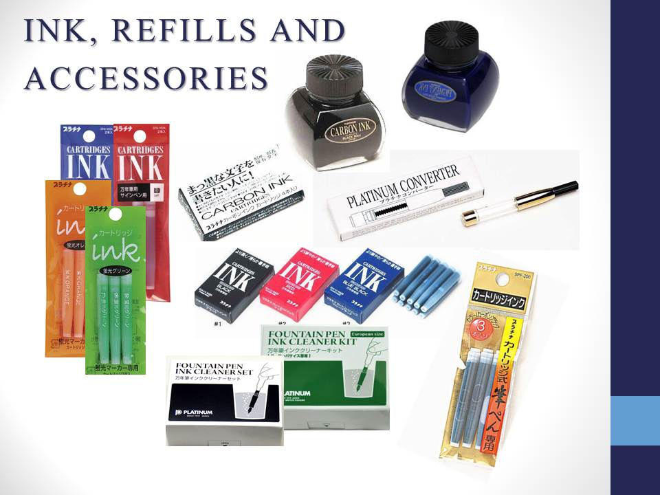 INK, REFILLS AND ACCESSORIES