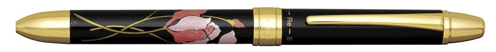 MWB-3000RM-#5 TRIPLE ACTION CYCLAMEN FLOWER PEN WITH BLACK, RED INK AND PENCIL OPTION.