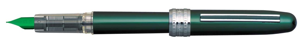 PGB-1000-#41 PLAISIR GREEN STAINLESS STEEL NIB AVAILABLE IN FINE AND MEDIUM.