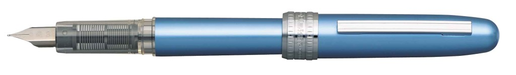 PGB-1000B-#57 PLAISIR FROSTY BLUE STAINLESS STEEL NIB AVAILABLE IN FINE AND MEDIUM.