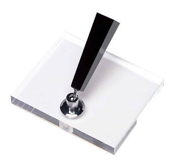 PLATINUM CLEAR ACRYLIC DESK BASE STAND DPD1500F_350