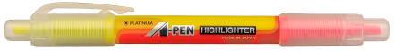PLATINUM TWOSIDED HIGHLIGHTER CSAW-150yellowpink