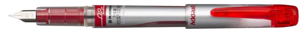 PPQ-300-#11 PREPPY RED EXTRA-FINE STAINLESS STEEL NIB.