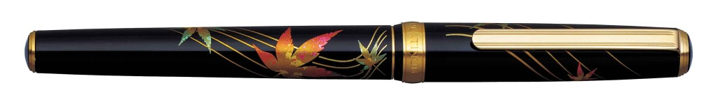 PTL-15000H-#46 MODERN MAKI-E AUTUMN LEAVES WITH 18 kt. GOLD NIB AVAILABLE IN FINE AND MEDIUM.