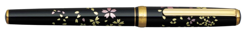 PTL-15000H-#52 MODERN MAKI-E CHERRY BLOSSOM 18 kt GOLD NIB AVAILABLE IN FINE AND MEDIUM.