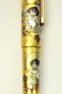 Platinum Gold inlay single closeup of dragon budaFR02