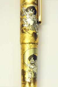 Platinum Gold inlay single closeup of dragon budaFR02